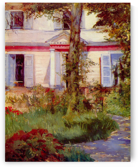 House in Rueil by Edouard Manet by Edouard Manet