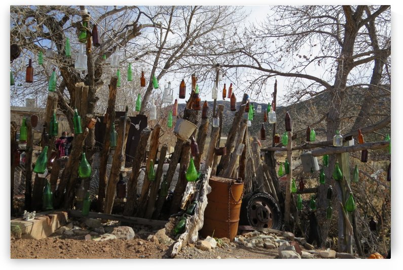 Turquoise Trail - Glass Bottles in Golden VP1 by Vicki Polin