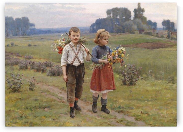 Children walking home by Cesar Pattein