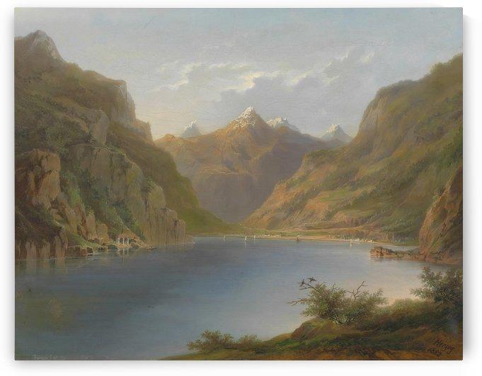 Vierwaldstattersee, 1882 by Hermann Ottomar Herzog