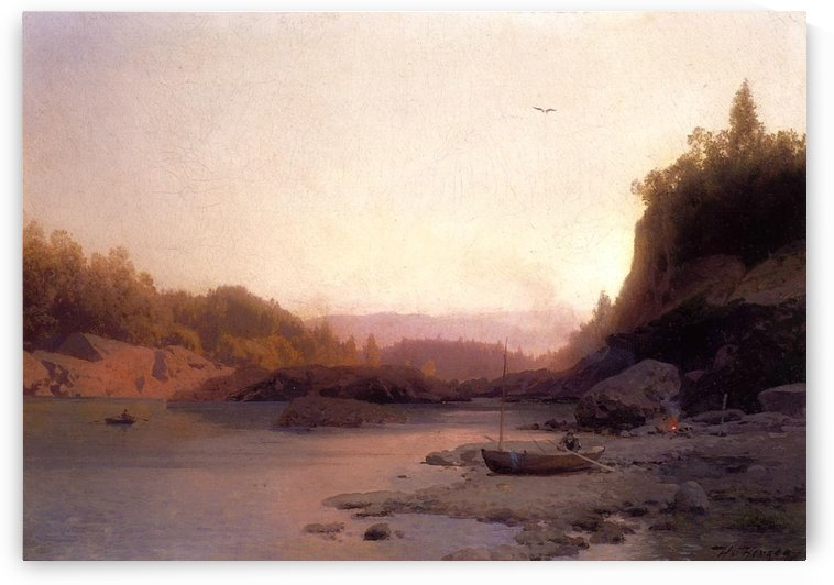 Evening on the Susquehanna by Hermann Ottomar Herzog