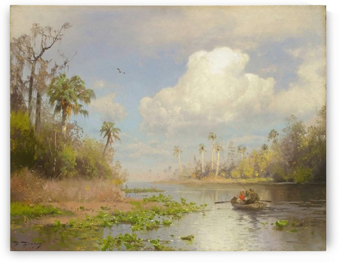 Near Cedar Key, Florida, 1890 by Hermann Ottomar Herzog