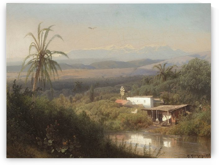 Riverbank Hideaway, 1875 by Hermann Ottomar Herzog