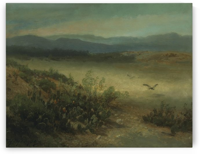 Between the Sierras and the coast range, California by Hermann Ottomar Herzog