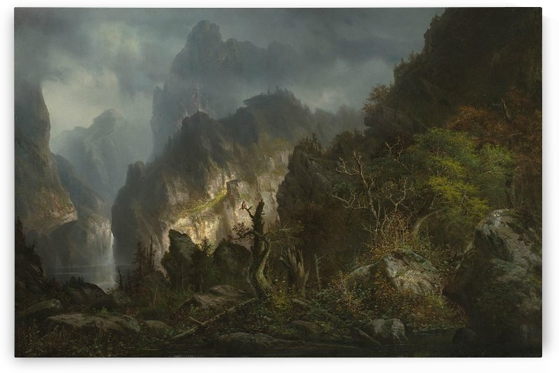 Storm in the mountains by Hermann Ottomar Herzog