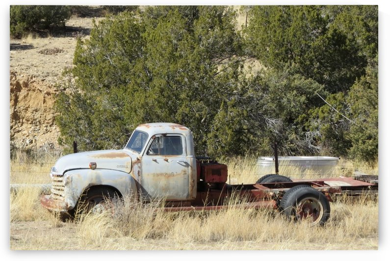 Turquoise Trail - Old Truck 1VP by Vicki Polin