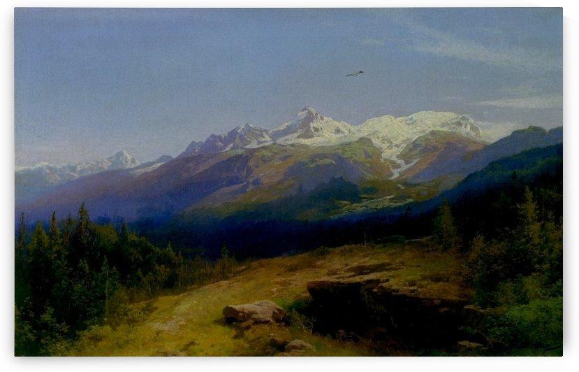 Western landscape by Hermann Ottomar Herzog