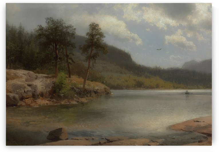 Inlet on Lake George near Fourteen Mile Island by Hermann Ottomar Herzog
