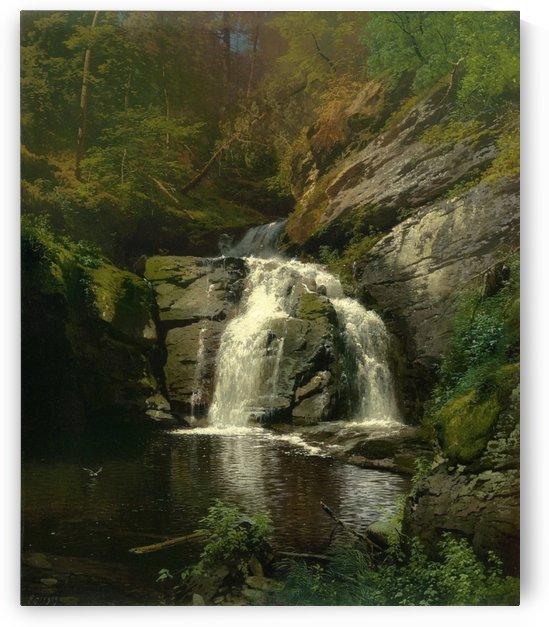 Buck Hills Falls by Hermann Ottomar Herzog
