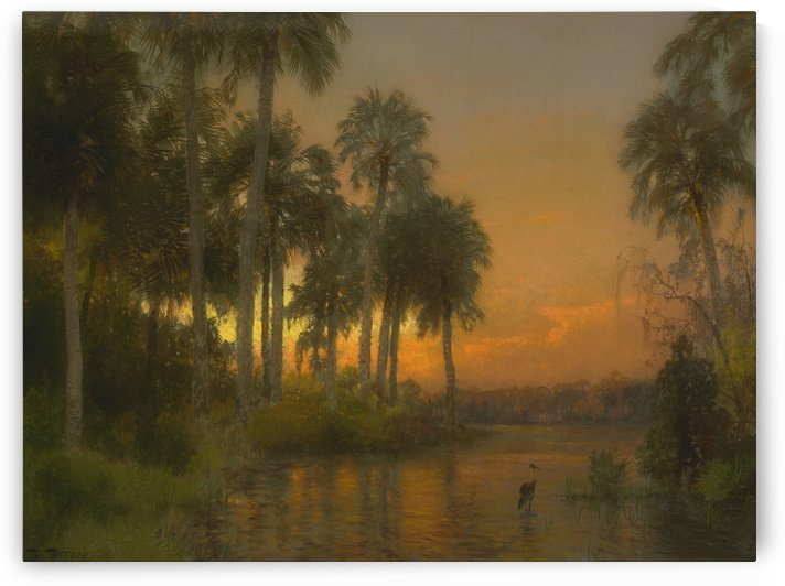 Florida sunset by Hermann Ottomar Herzog