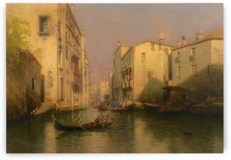 Venetian canal by Hermann Ottomar Herzog