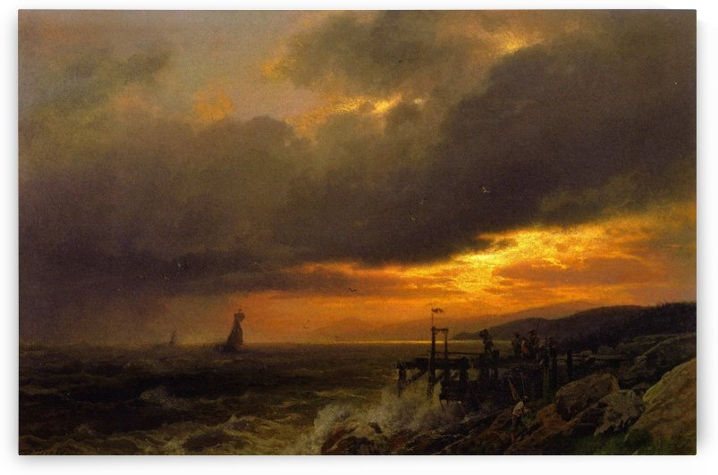 Sunset on the Coast of Maine by Hermann Ottomar Herzog