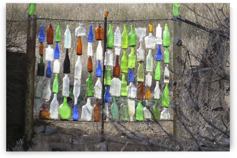 Turquoise Trail - Glass Bottle Gate 1VP by Vicki Polin