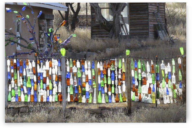 Turquoise Trail - Glass bottles in Golden 2VP by Vicki Polin