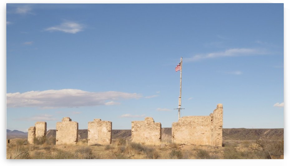 American Flag over Fort Craig VP1 by Vicki Polin