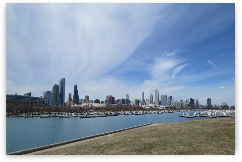 View of Chicago from Northerly Island VP8 by Vicki Polin