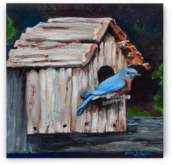 BlueBird on Lake Odom by Jan Kornegay Dappen