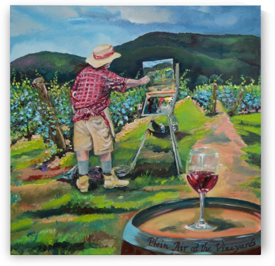 We Paint with Wine- Plein Air in the Vineyard by Jan Kornegay Dappen