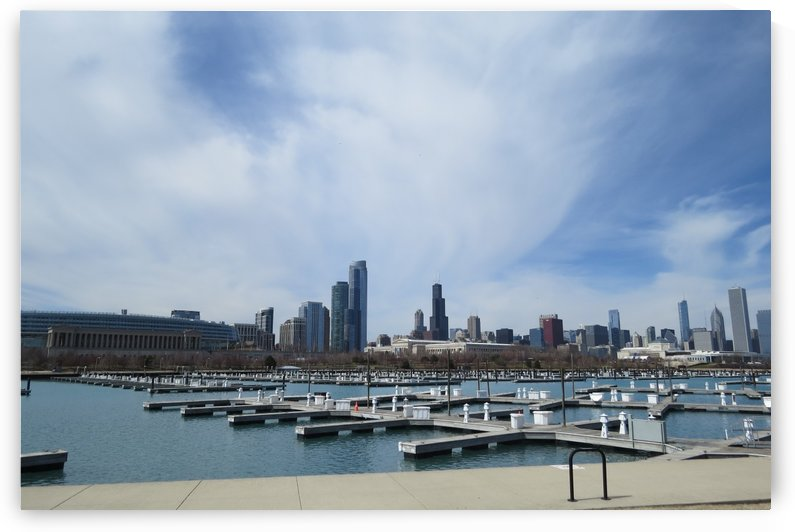 View of Burnham Harbor from Northerly Island  VP4 by Vicki Polin