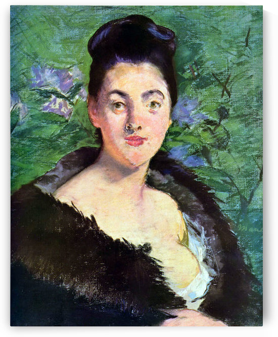Lady in Fur by Manet by Manet