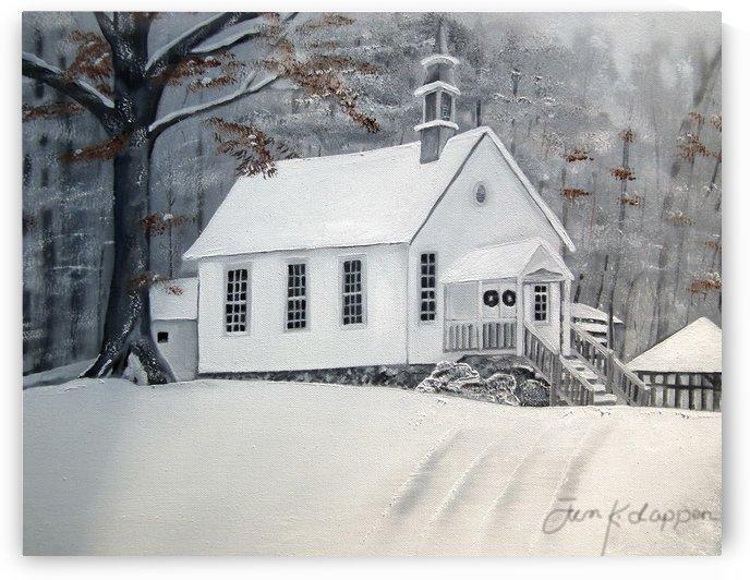 Snowy Gates Chapel by Jan Kornegay Dappen