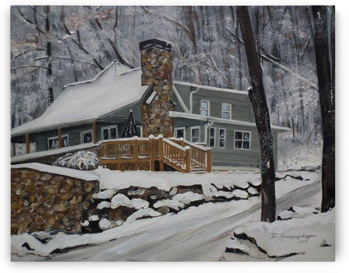 Cherry Cabin in the Woods by Jan Kornegay Dappen