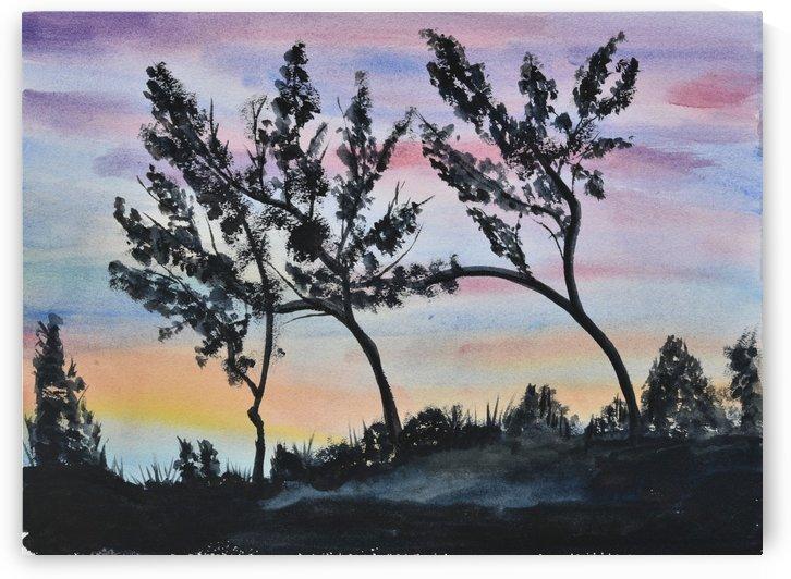 Dusk Landscape by Linda Brody