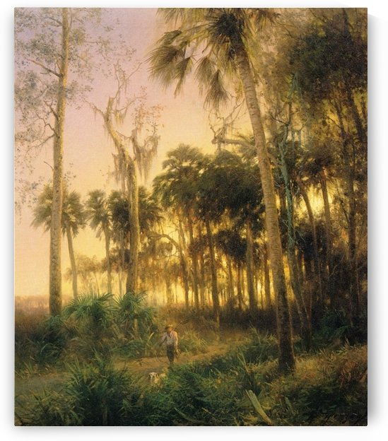 Sunset near Low Creek, Florida by Hermann Ottomar Herzog