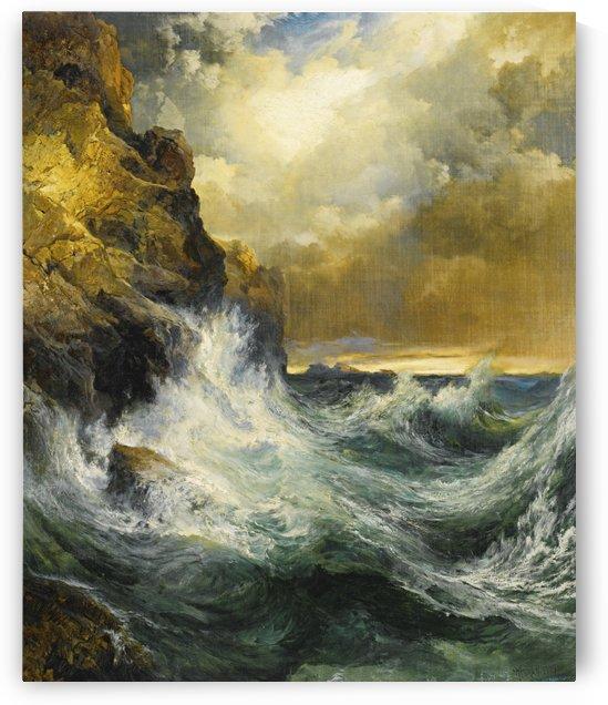 The receding wave by Thomas Moran