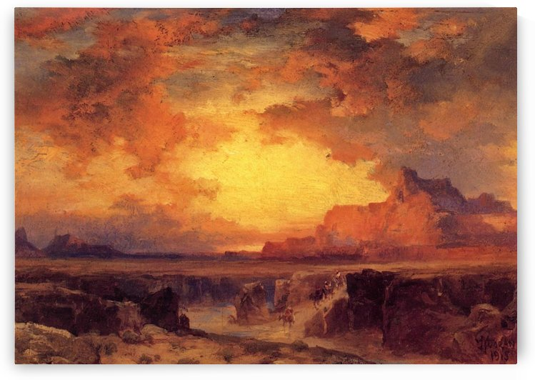 Near Fort Wingate New Mexico by Thomas Moran