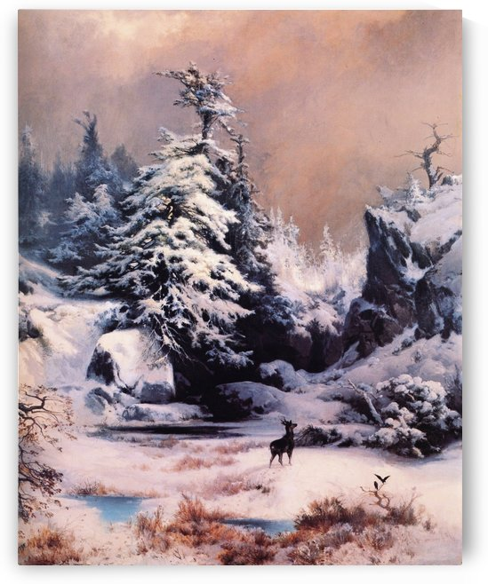 Winter in the Rockies by Thomas Moran