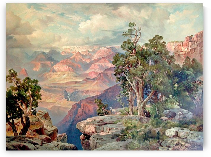 The Grand Canyon of Arizona, from Hermit Rim Road by Thomas Moran