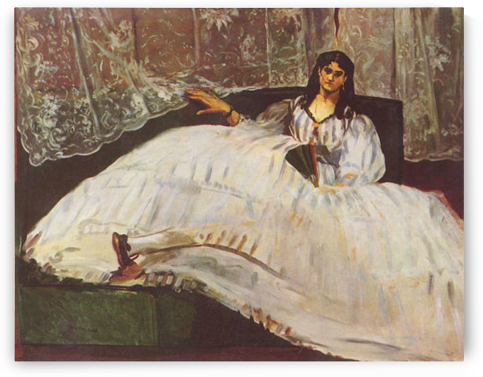 Lady with fan by Manet by Manet