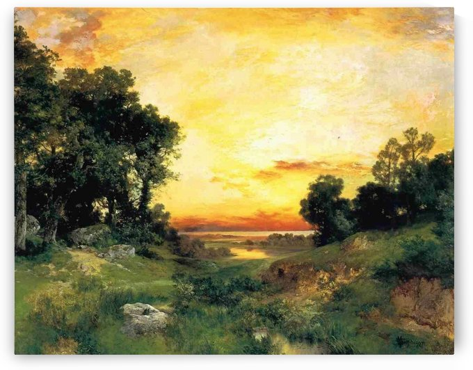 Sunset in Long Island by Thomas Moran