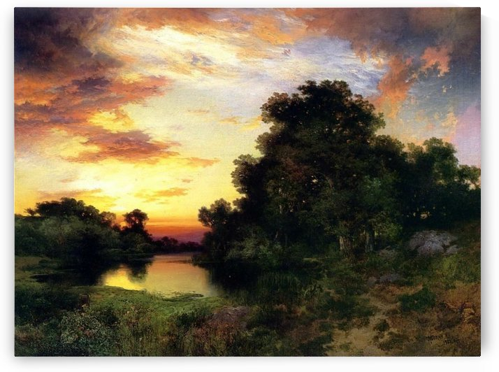 Sunset on Long Island by Thomas Moran