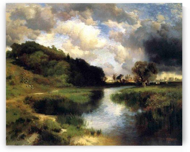 Cloudy day at Amagansett, 1884 by Thomas Moran