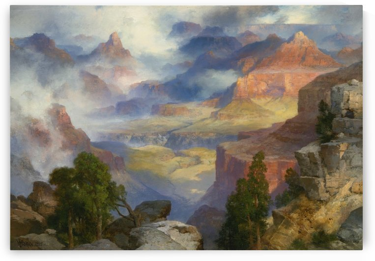 Grand Canyon in mist by Thomas Moran