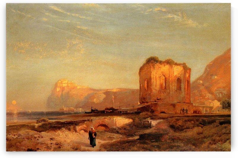Temple of Venus Castle of Baiae, 1867 by Thomas Moran