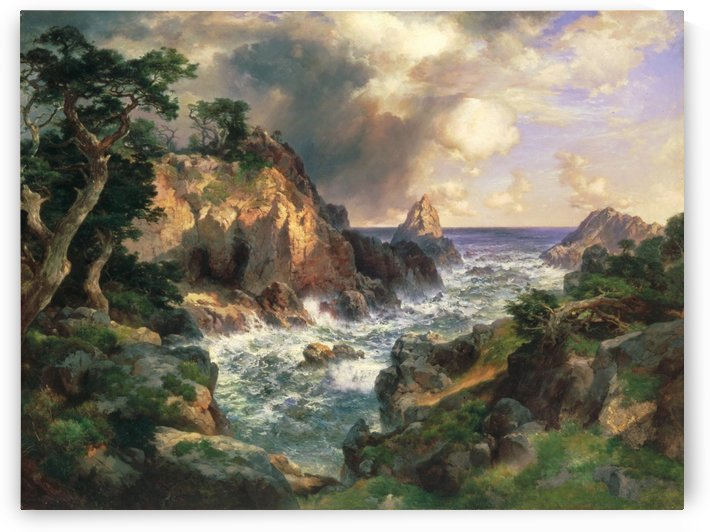 Point Lobos, Monterey, California by Thomas Moran