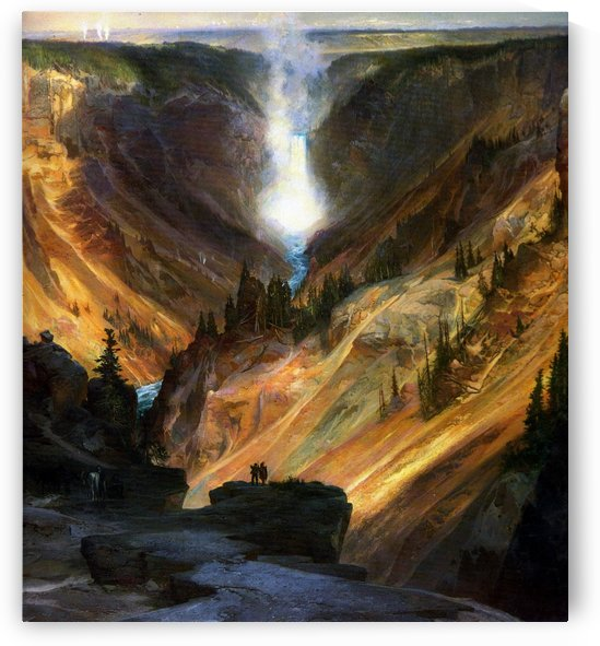 Water wave in Yellowstone by Thomas Moran