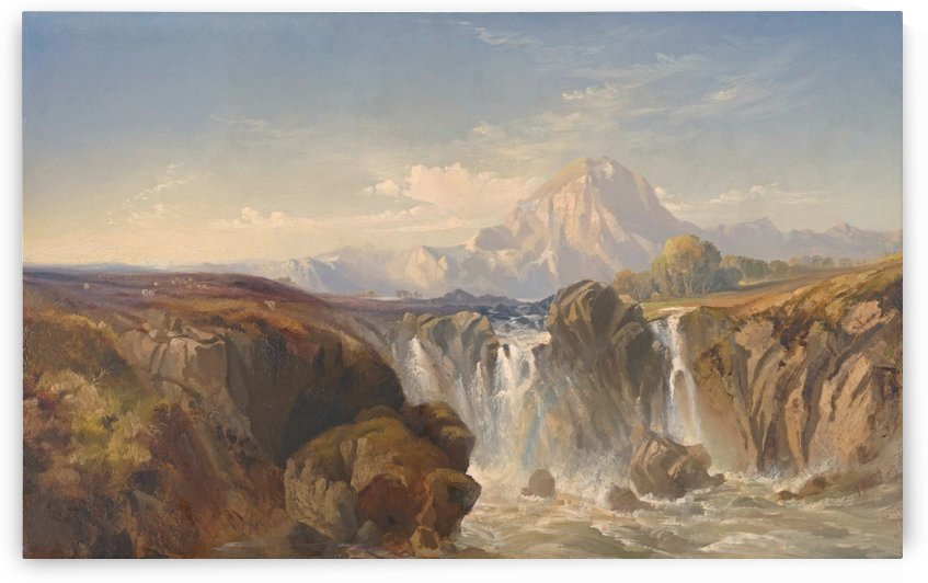 The Waterfall, 1857 by Thomas Moran