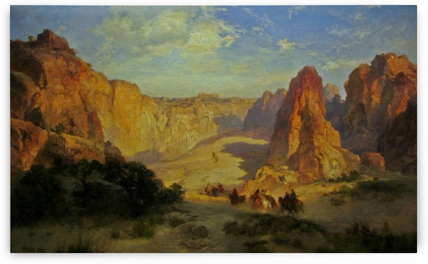 A view of the Acoma Pueblo in New Mexico by Thomas Moran