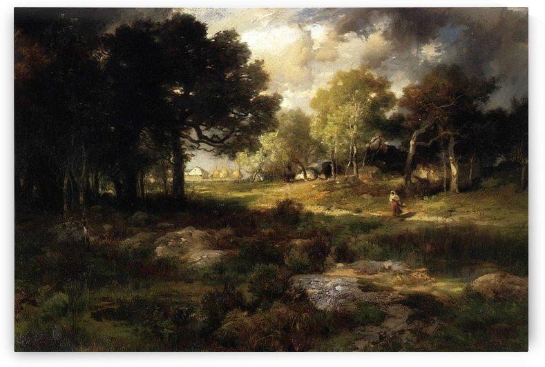 Romantic landscape, 1885 by Thomas Moran