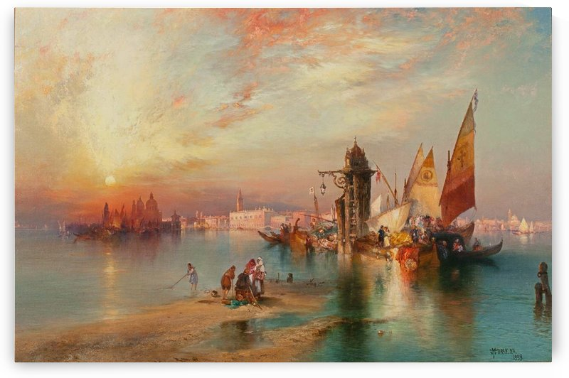 Sunset View of the Gateway of Venice by Thomas Moran