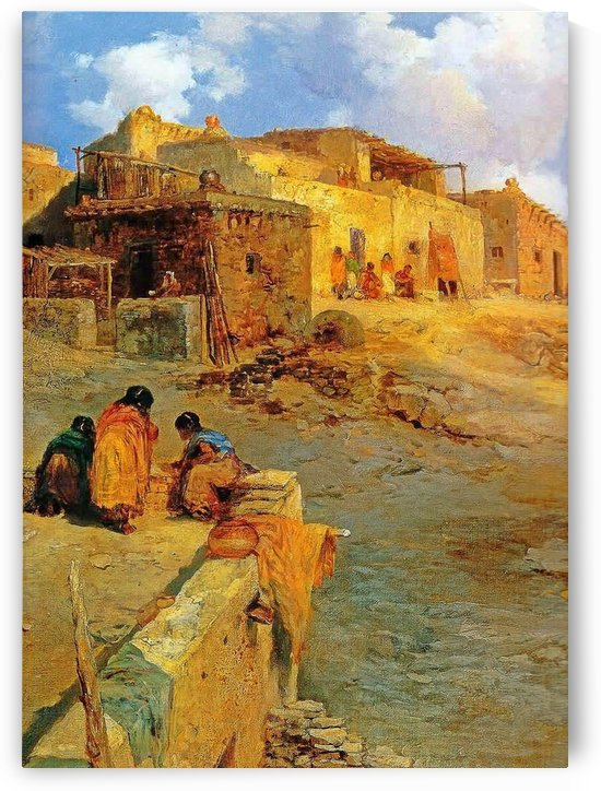 Luguna Pueblo by Thomas Moran