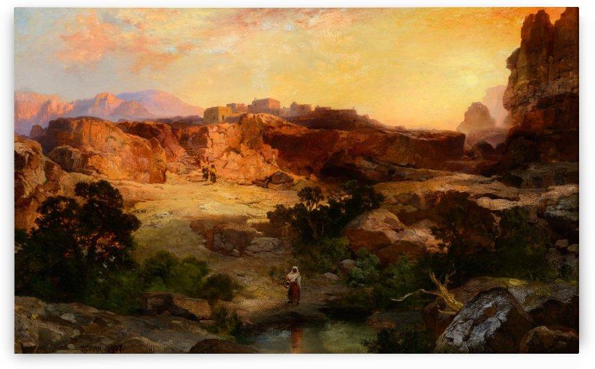 A water pocket, Northern Arizona by Thomas Moran