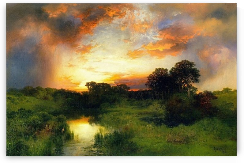 Sunset from the Inlet by Thomas Moran