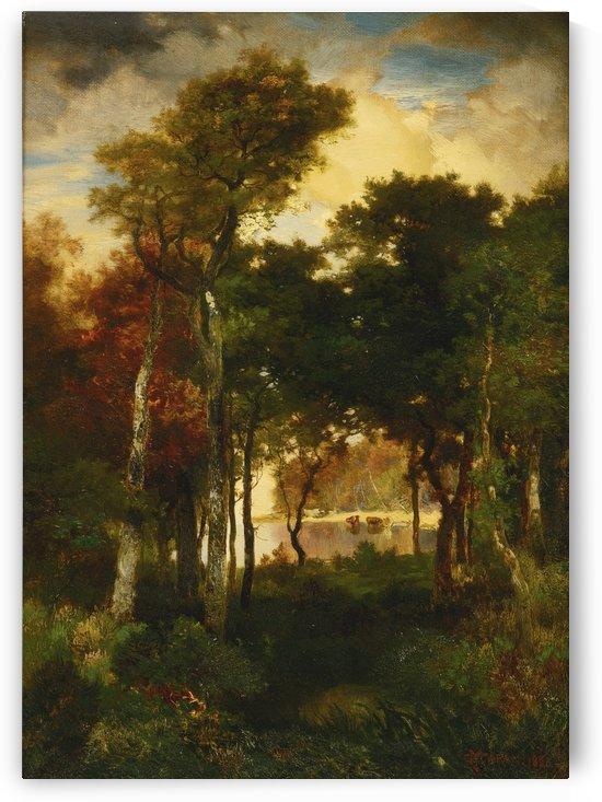 A glimpse of Georgica Pond by Thomas Moran