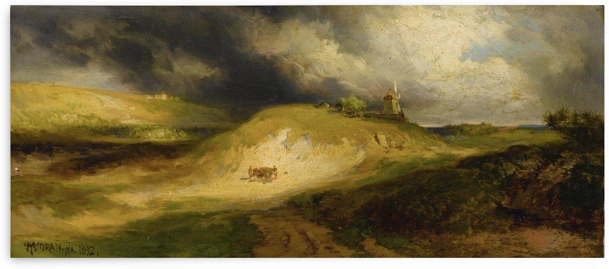 The Gravel Bank, Easthampton by Thomas Moran