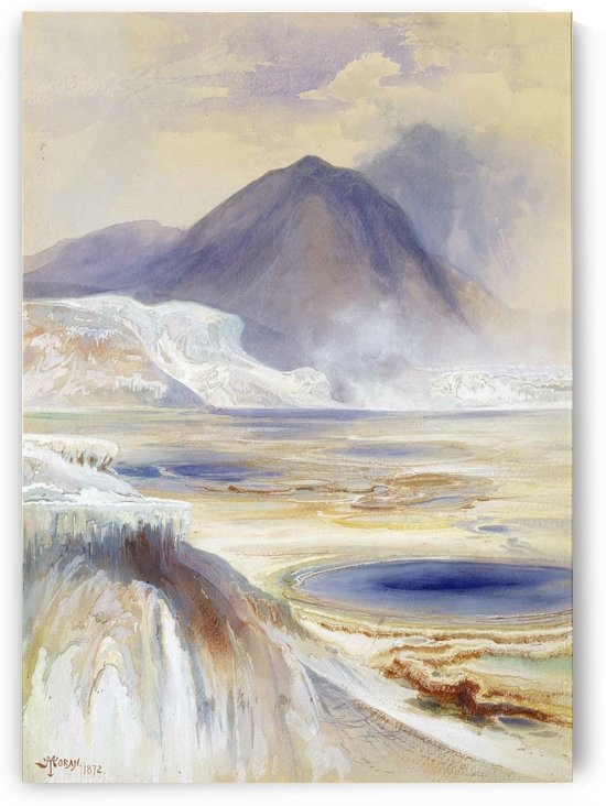 Mammoth Hot Springs, Yellowstone, 1872 by Thomas Moran